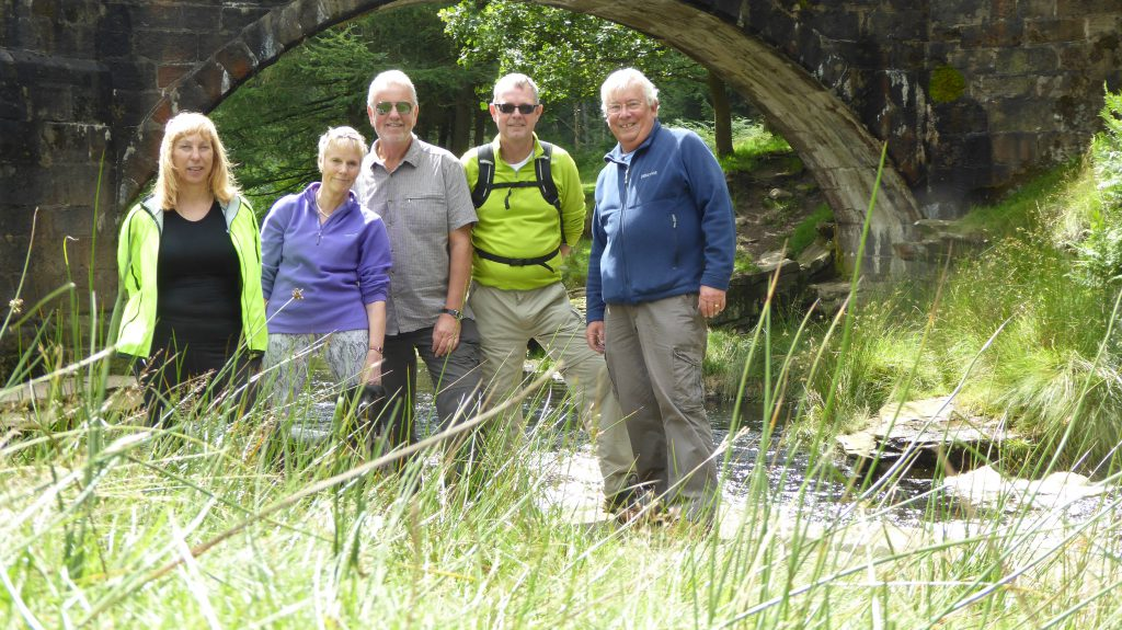 This is an outing of the IF Club to Ladybower in the Peak District using our bikes. A motley crew but mine own, left to right - Caroline, Sue W., Roger, Tim et moi. I'm forcefully advised NOT to say what the club synonym IF stands for. It's just not very nice OK?
